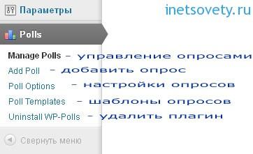 Установка и настройка плагина Wp-polls