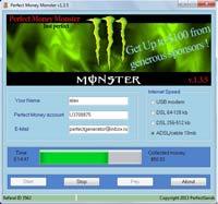 Программа PerfectMoney Monster 1.3.5