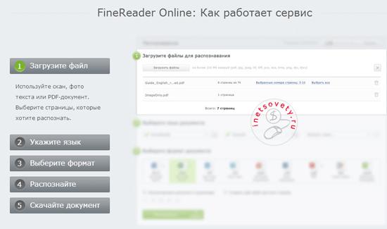 Как расшифровать текст онлайн на Finereader Online