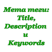 мета теги Title, Description и Keywords к статье