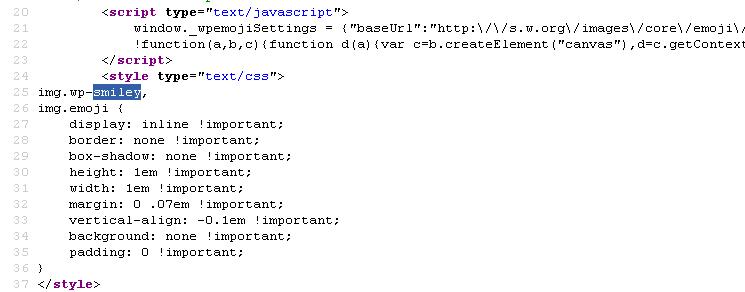 скрипт Emoji в коде страницы