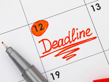 deadline - крайний срок сдачи проекта