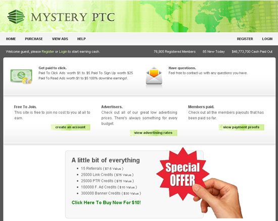 Отзывы о сайте Mystery PTC