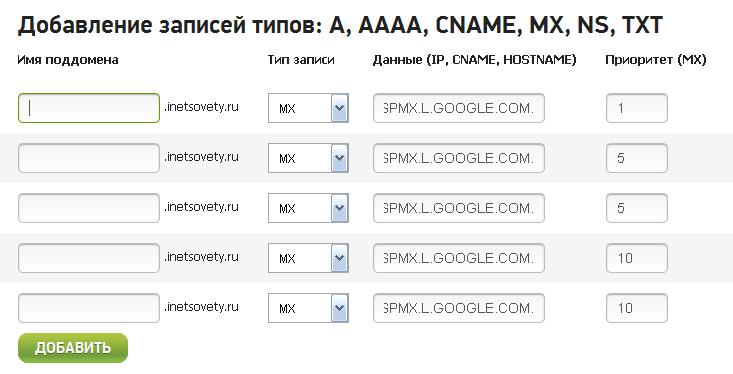 Как настроить домен гугл почты