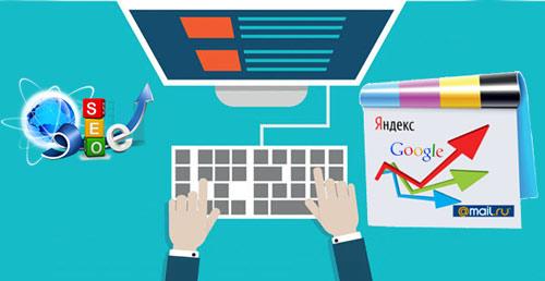 SEO-специалист выполняет внешнюю и внутреннюю оптимизацию сайта для повышения его позици в результатах поисковой выдачий