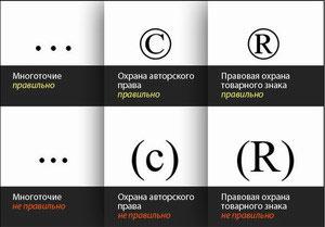 Знаки охраны авторского права
