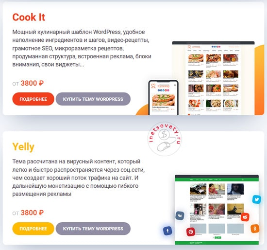 Cook It - кулинарный шаблон WordPress